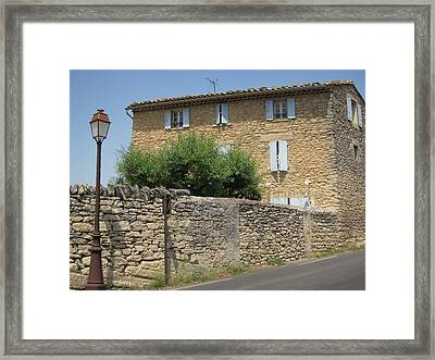 Stone House Framed Print by Pema Hou