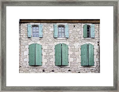 Stone House Windows Framed Print by Georgia Fowler