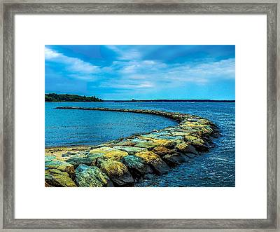 Stone Jetty Framed Print