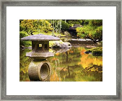 Japenese Garden Framed Print by Kyle Wasielewski
