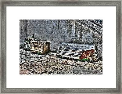 Framed Print featuring the photograph Holy Rocks In Israel by Doc Braham