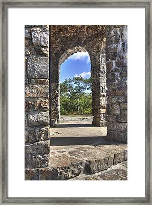 Stone Memorial  Framed Print by Larry Braun