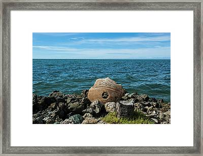 Stone Money On The Island Of Yap Framed Print