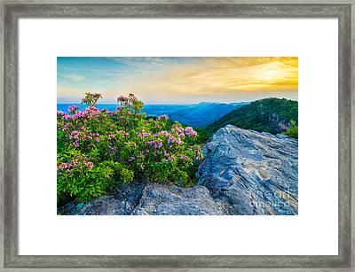 stone mountain KY Framed Print by Anthony Heflin