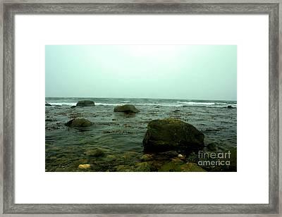 Stone Ocean Framed Print