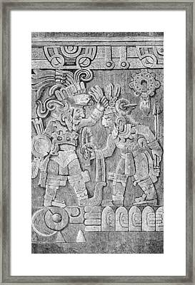 Stone Of Tizoc, Aztec Sacrificial Stone Framed Print by British Library