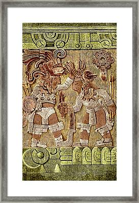 Stone Of Tizoc, Aztec Sacrificial Stone Framed Print by Science Source