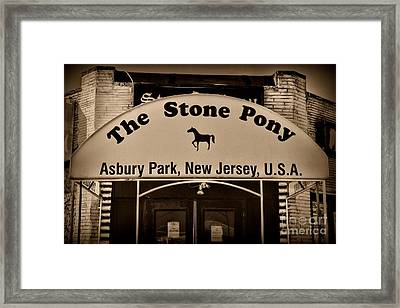 Stone Pony Enter Here Framed Print by Paul Ward