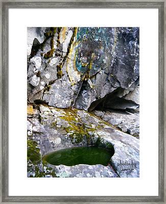 Stone Pool Framed Print