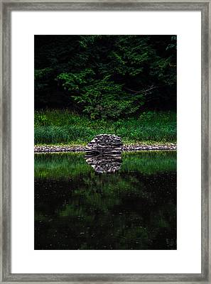 Stone Reflection Framed Print