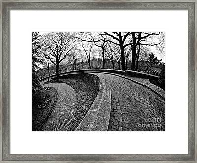 Stone Road And Path Framed Print by Mark Miller