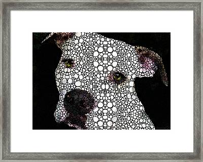 Stone Rock'd Dog By Sharon Cummings Framed Print