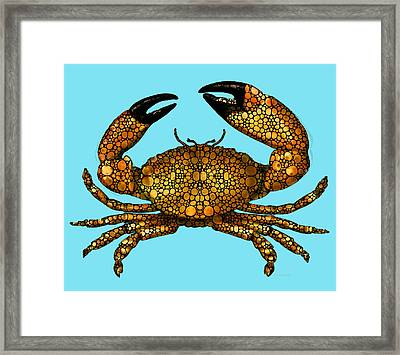 Stone Rock'd Stone Crab By Sharon Cummings Framed Print