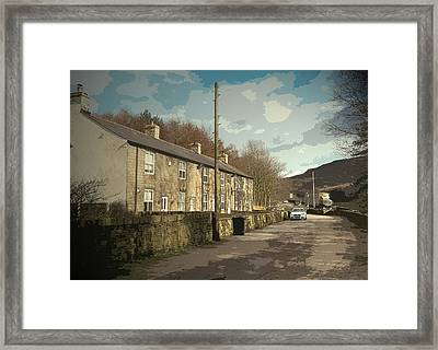 Stone Row In Crowden, The Youth Hostel That Was Situated Framed Print by Litz Collection