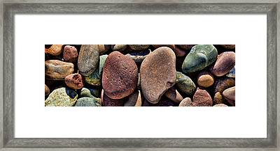 Stone Shapes Framed Print by Kelley King