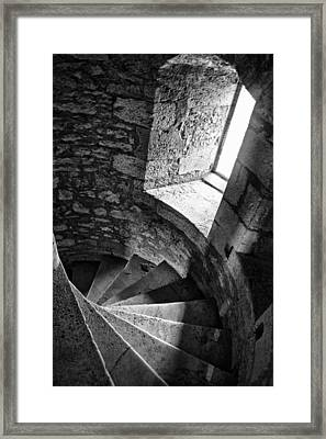 Stone Spiral Staircase Framed Print by Georgia Fowler