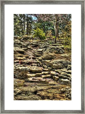 Stone Spring At Woodward Park 1 Framed Print