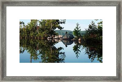 Stone Stacking Framed Print