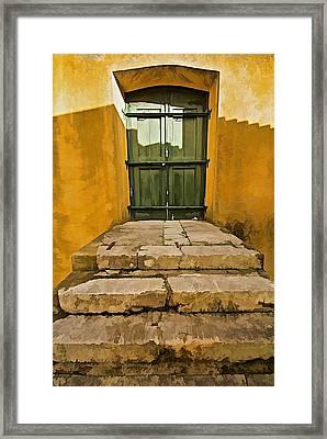 Stone Stair Entranceway  Framed Print by David Letts