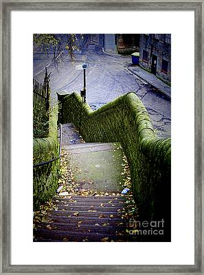 Framed Print featuring the photograph Stone Staircase by Craig B