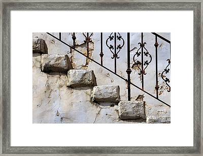 Stone Stairs Framed Print