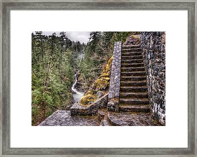 Stone Stairs To Nowhere Framed Print by James Wheeler