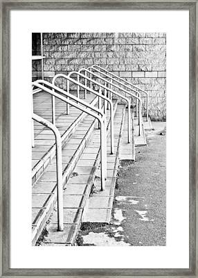 Stone Steps And Railings Framed Print