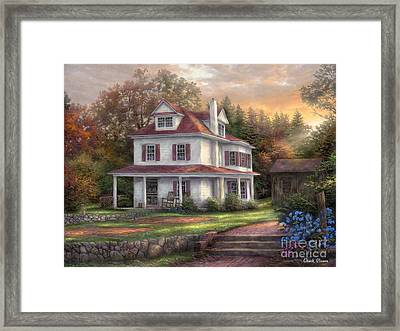 Stone Terrace Farm Framed Print by Chuck Pinson