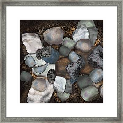 Stone Thoughts Framed Print by Christine Fournier