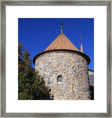 Stone Tower Framed Print by Chris Thomas