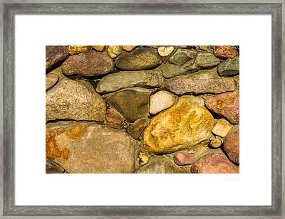 Stone Wall - Featured 3 Framed Print by Alexander Senin