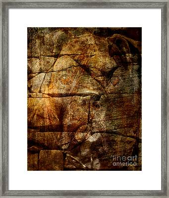 Stone Wall Framed Print by Judy Wood