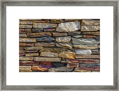 Stone Wall Framed Print by Paul Donohoe