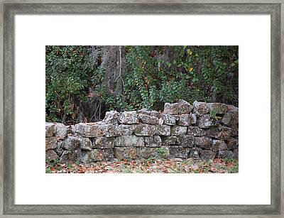 Stone Wall - Photograph Framed Print by RD Erickson