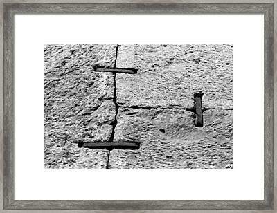 Stone Wall Support Framed Print by Jagdish Agarwal