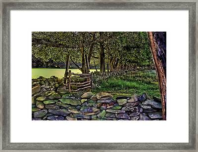 Stone Walled Framed Print by Tom Prendergast