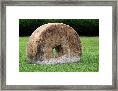 Stone Wheel Framed Print