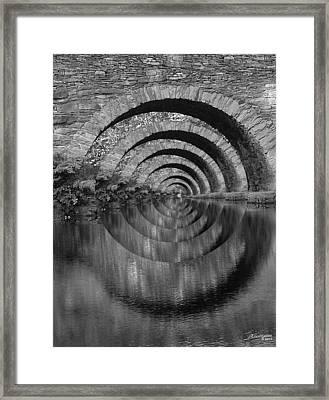 Stonearch Bridge  Black And White Framed Print