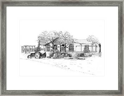 Stonechurch Winery Framed Print by Steve Knapp
