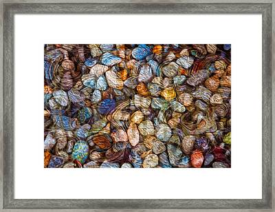 Stoned Stones Framed Print by Omaste Witkowski