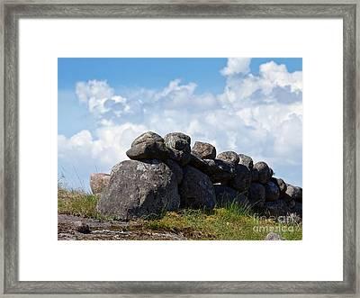 Stonefences Framed Print