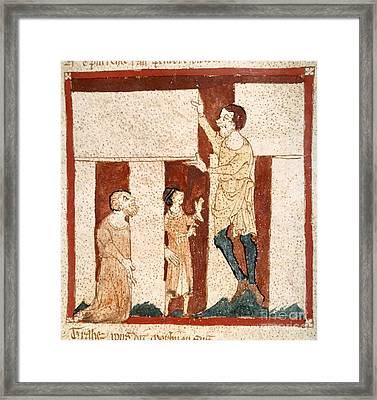Stonehenge And Merlin, Medieval Chronicle Framed Print