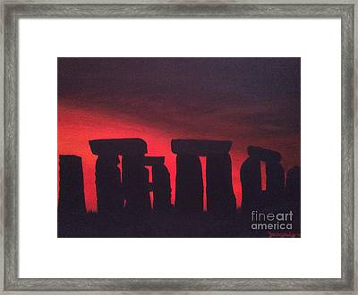 Stonehenge At Dusk Framed Print