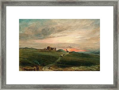 Stonehenge At Sunset, After John Constable Framed Print by Litz Collection