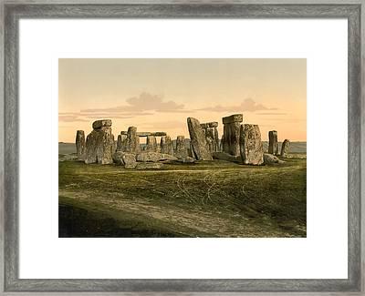 Stonehenge Circa 1895 Framed Print