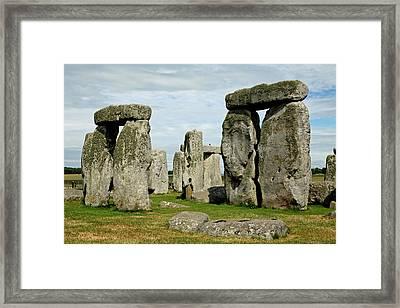 Stonehenge Framed Print by Derek Sherwin