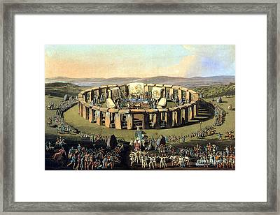 Stonehenge, Druid Festival Framed Print by Science Source