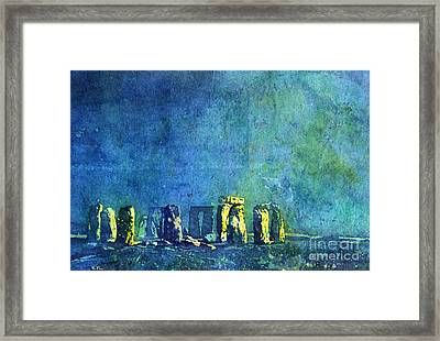 Stonehenge In Moonlight Framed Print by Ryan Fox