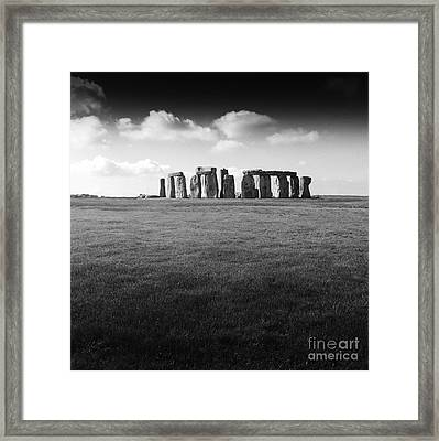 Stonehenge Framed Print by Michael Canning