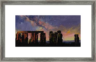 Stonehenge Framed Print by Michael Creese